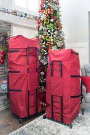 santa s bags expandable upright tree storage bag