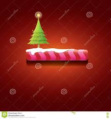 vector christmas red button with christmas tree stock vector