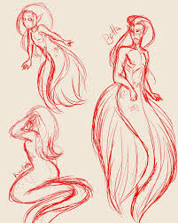 mermaid and merman sketch by valorkit on deviantart
