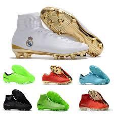 s soccer boots australia 2018 2017 cr7 soccer shoes gold mercurial unisex