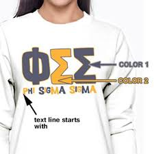 sorority greek letter color block custom design greek shirts and gear