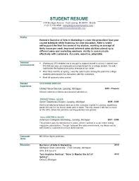 resume template for recent college graduate recent college