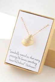 condolences gift gold seashell necklace sea shell conch necklace sympathy