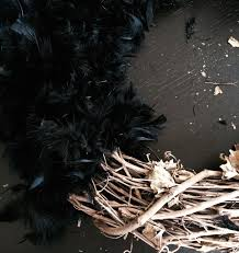 michaels halloween stuff a little early diy halloween feather owl wreath