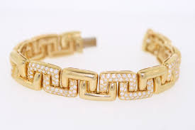 diamond link bracelet gold images 18k yellow gold 8 0ct round diamond greek key link bracelet 8 5 jpg