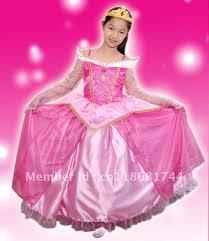 pink luxury sleeping beauty princess costume fancy dress up pink