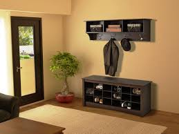 Mudroom Storage Ideas Impressive Entryway Furniture With Black Wooden Bench Combined