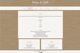 template undangan online desain undangan online box simple wedding website template