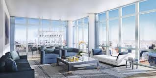 Livingroom Nyc Modern Penthouses Nyc Amazing View In Gallery Minimal Interior Of