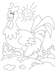 funny rooster farm animal coloring pages download free funny
