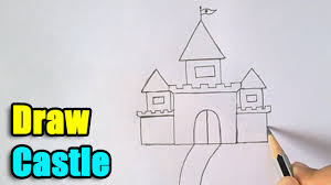 how to draw castle for kids drawing videos pinterest how to