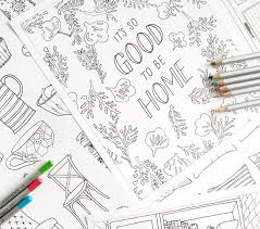 Books For Home Design An Coloring Book For Home Decor Lovers