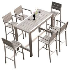 Patio Dining Furniture Crecent 7 Piece Outdoor Dining Set Contemporary Outdoor Dining