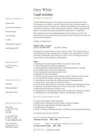 legal secretary resume objective amazing paralegal resume sample