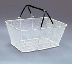 wire handle shopping baskets mesh baskets rubber coated 12 basket