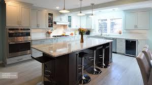 kitchen island peninsula kitchen white cabinets with a wood kitchen island omega