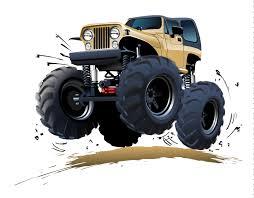 cartoon monster truck vector free vector graphic download