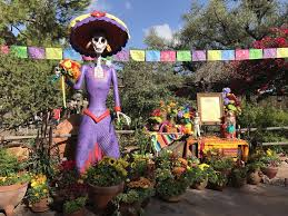 disneyland day of the dead 2017 popsugar smart living there are flowers every which way at disneyland park s frontierland
