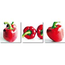 tableau theme cuisine 3 tableaux photo theme cuisine poivrons rouges photographies