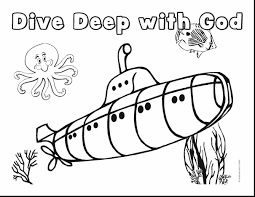 astonishing swimming underwater coloring pages with underwater