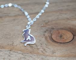 Personalized Cat Necklace Kitty Cat Necklace Etsy