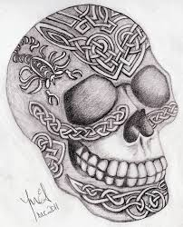 Celtic Skull - celtic skull by sweetmarly on deviantart