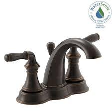 kohler devonshire 4 in centerset 2 handle mid arc water saving