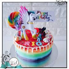 pony cake my pony rainbow cake singapore cake for kids birthday