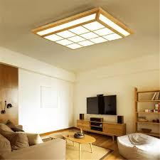 chambre style japonais nordique led bois cube salon plafond le carré treillis style