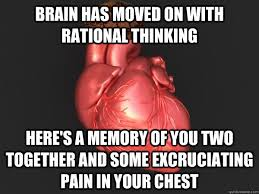 Chest Pain Meme - brain has moved on with rational thinking here s a memory of you