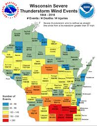 Wisconsin Usa Map by Natural Hazards Climate In Wisconsin State Climatology Office