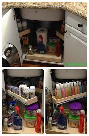 Under The Kitchen Sink Organization by Optimize The Space Under Your Corner Sink With Strategically