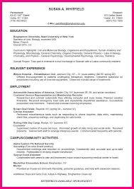 Biology Sample Resume by 7 Sample Cv College Student