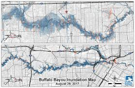 bayou map addicks and barker potential flood maps galveston district