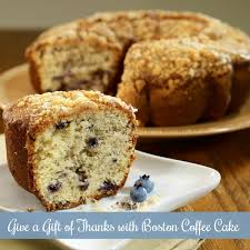 what to give as a thank you gift give a gift of thanks with boston coffee cake