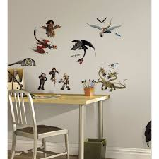 beautiful dragon wall decals easy to apply and remove roommates how to train your dragon 2 peel and stick wall decals