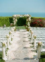 new outdoor wedding ceremony decorations painting landscape at