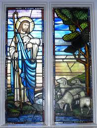 painting on glass windows the good shepherd a stained glass window in saint mark u0027s