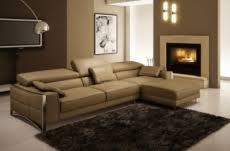 canap d angle en cuir marron canap mobilier privé