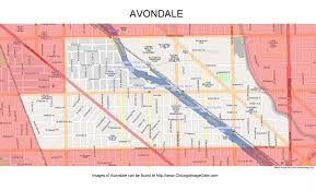 Chicago Neighborhood Map Poster by Avondale Chicago Photos Chicago Photos Images Pictures