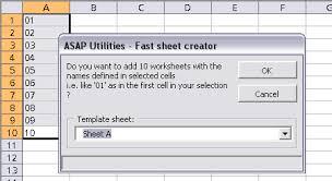 asap utilities for excel u2013 blog create multiple worksheet copies