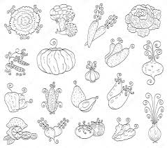 printable outline fruits and vegetables