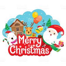 imagenes de santa claus feliz navidad santa claus renos y amigo en banner de feliz navidad arte