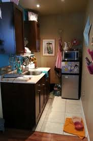 Small Apartment Kitchen Ideas Garage Turned Into Small Studio Apartment Kitchen Here No Stove