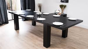 Large Extending Dining Table Modern Large Extending Black Ash Dining Table Chunky Legs Seats 14