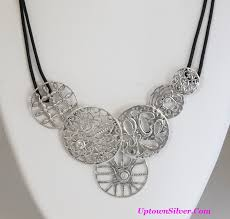 leather bib necklace images N2343 shop our selection of silpada filigree art cubic zirconia JPG