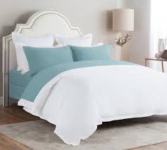 solid flannel sheet set in stone blue twin full queen king