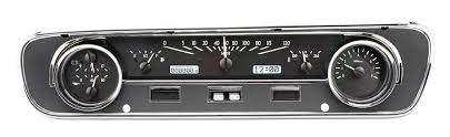 1964 Black Mustang 1964 65 Ford Falcon Mustang Dakota Digital Gauges Vhx System