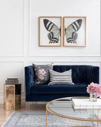 Navy Living Room Furniture 25 Stunning Living Rooms With Blue Velvet Sofas Blue Velvet Sofa