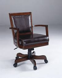 Leather Gaming Chairs Hillsdale Ambassador Caster Game Chair With Leather Seat 6124 801